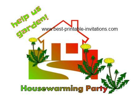 Free Printable Housewarming Invitations - Printable housewarming garden party invites
