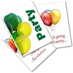 Free printable balloon party invitaitons