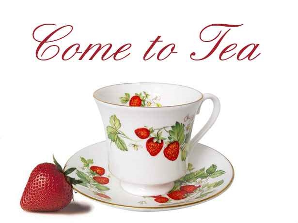Free printable tea party invitations - strawberry cup