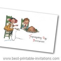 Free thanksgiving invitation