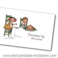 Free thanksgiving invitation