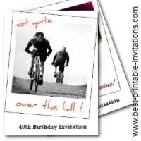 Funny 40th Birthday Party invitations