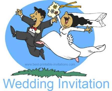 Funny Wedding invitations - Free Printable Invites