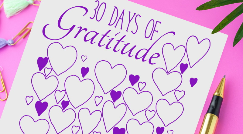 30 days of gratitude printable journal