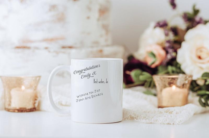 Mug Guest Book Idea