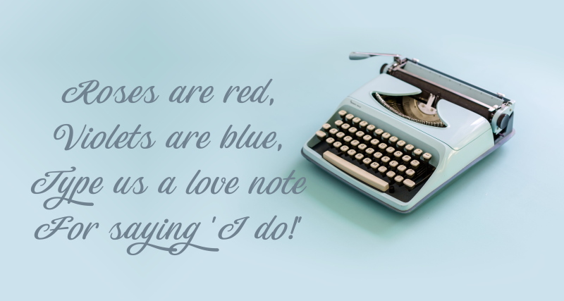 Typewriter guest book ideas