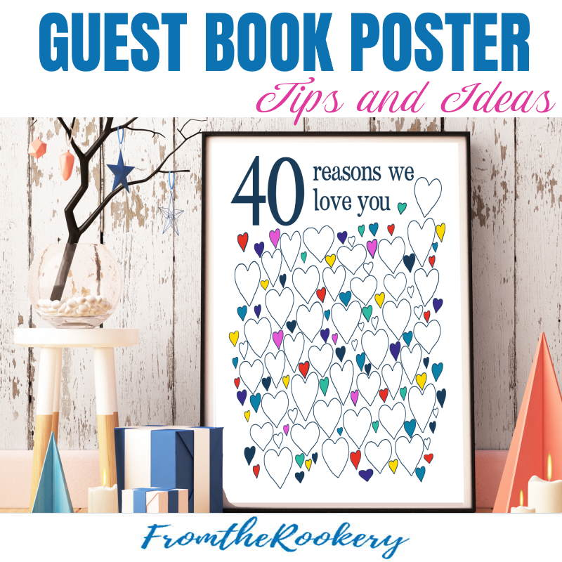 Guest book poster tips