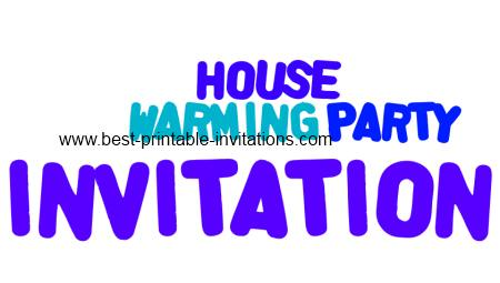 Free Printable House Warming Party Invitations
