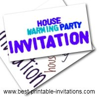 Free Printable Housewarming Party invitations - foldable invite card