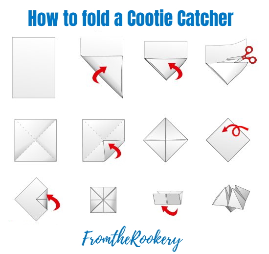 How to fold Chatterbox, Cootie Catcher Invitations