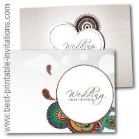 Free Printable Indian wedding invitations