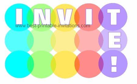 Invitation - Printable and Free