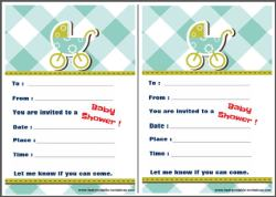 Invitations for Baby Shower - Invite template