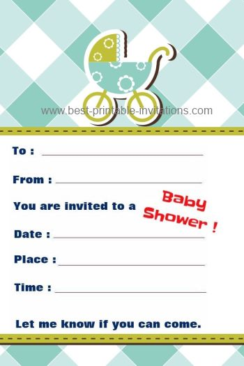 Beautiful Invitations for Baby Showers - Free to print