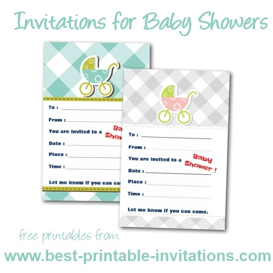 Free printable invitations for Baby Shower