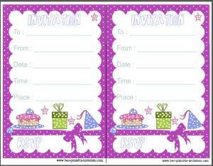 Kid Birthday Party Invitaiton