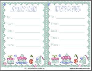 Free printable kid birthday invitation