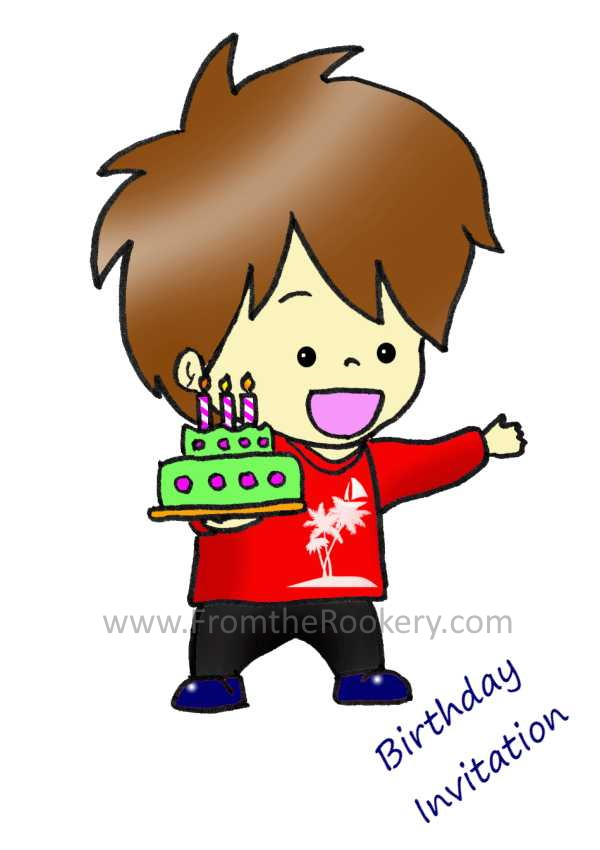 Free Printable Kids Birthday Party Invitations - Boy Birthday Invitation