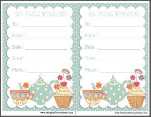 Tea Invitations Printable Diagne Nuevodiario Co