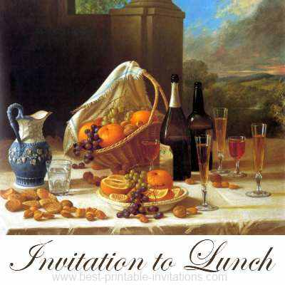 Lunch Invitations - free printable invites