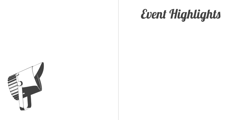 Party guestbook event page