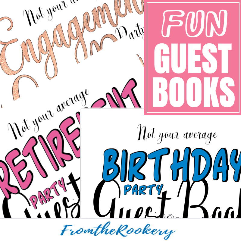 fun guest books with prompts