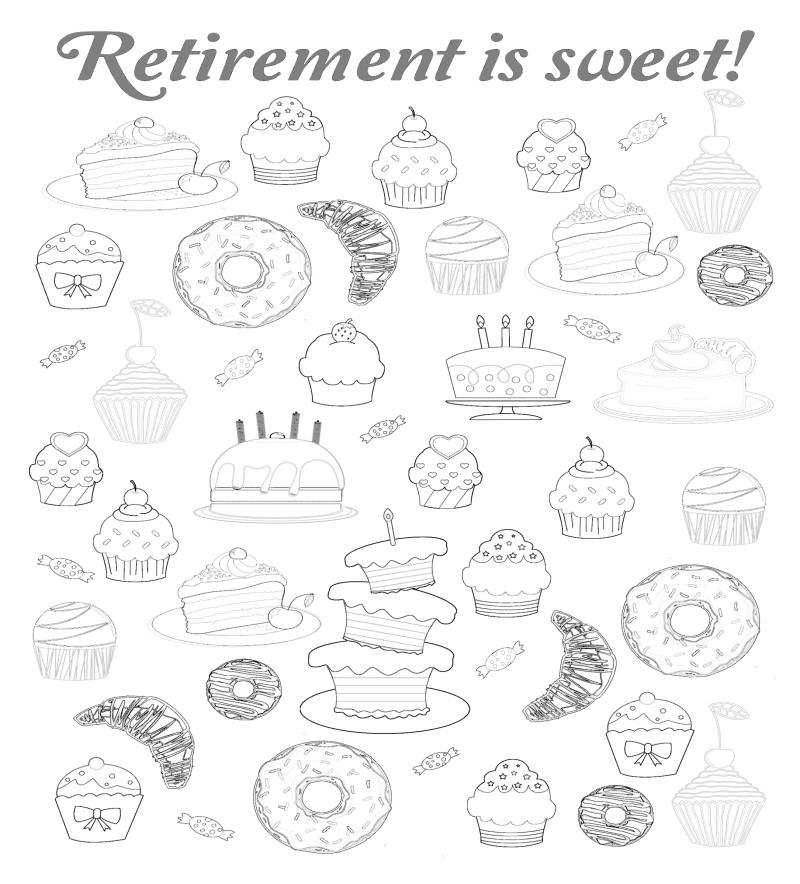 Retirement is sweet guest book page
