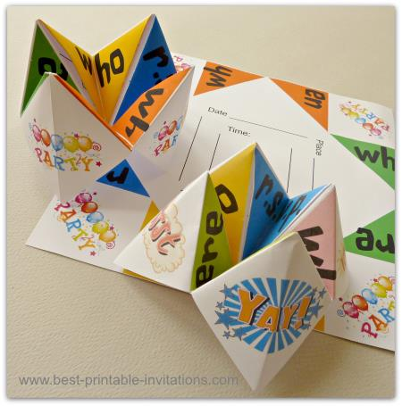 Origami Invitations - Party Invitation Ideas