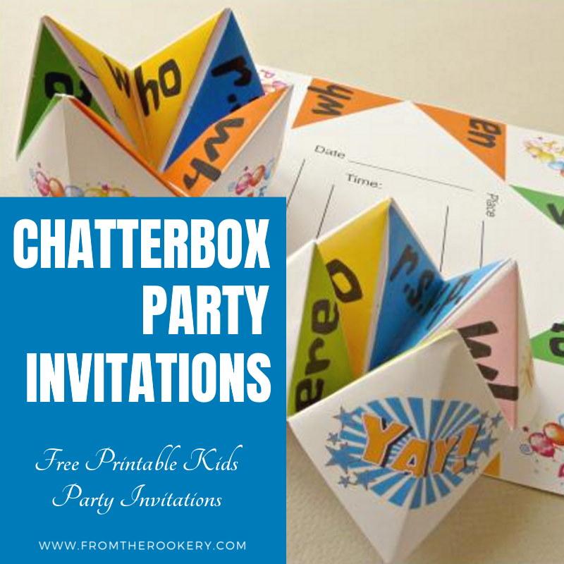 Origami Cootie Catcher invitations