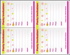 Party Invitation Card - Kids Birthday Invites