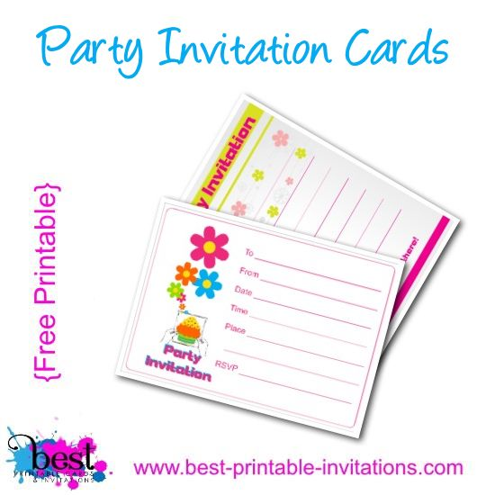Free Printable Kids Party Invitation Card