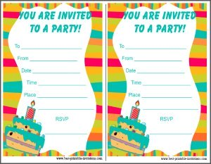 Printable Party Invitations for Kids