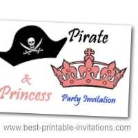 Kids Pirate Party Invites - Free Printable