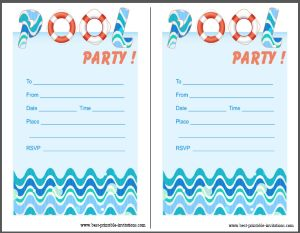 Free Pool Party Invites