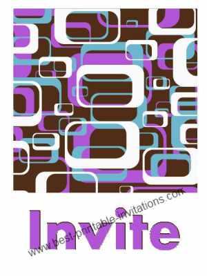 Print Free Invitations - purple design free invitation cards