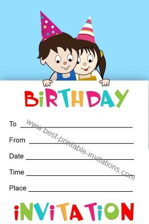 Printable Birthday Invitation for Kids