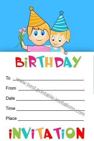 Printable birthday Invitations for kids - free invites