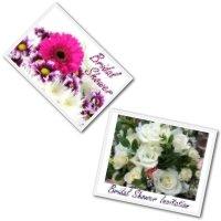 Printable bridal shower invitations - flower designs