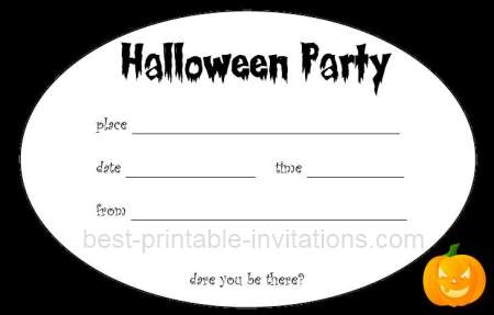 Free printable halloween invitations