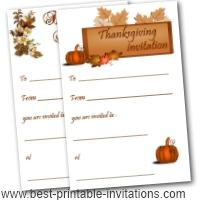 Printable Thanksgiving Invitations - Free Invites