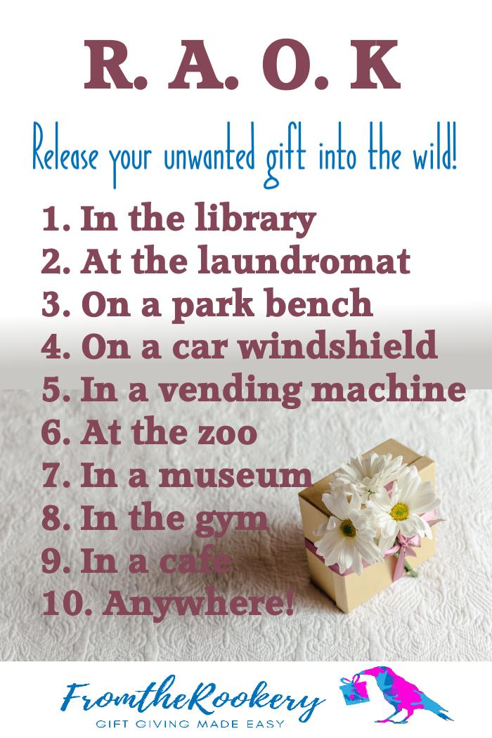 Random Acts of Kindness - donate unwanted gifts