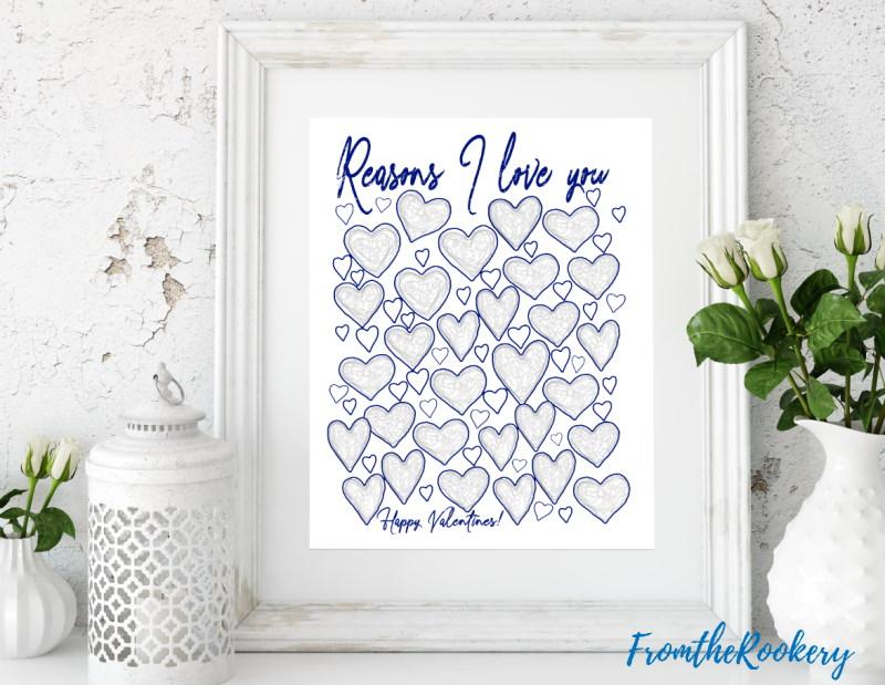 Reasons Why I love You Print
