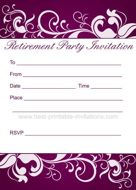 Retirement Party Invitation - Free Printable Invites