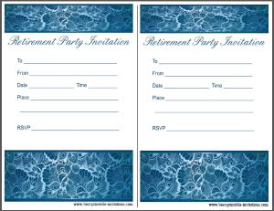 Free Retirement Party Invitation