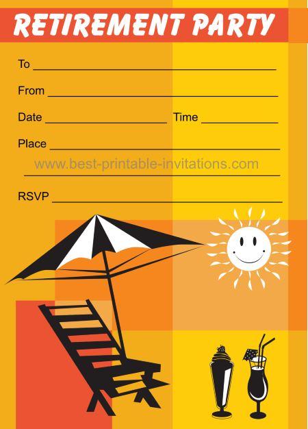 Retirement Party Invitations - free printable