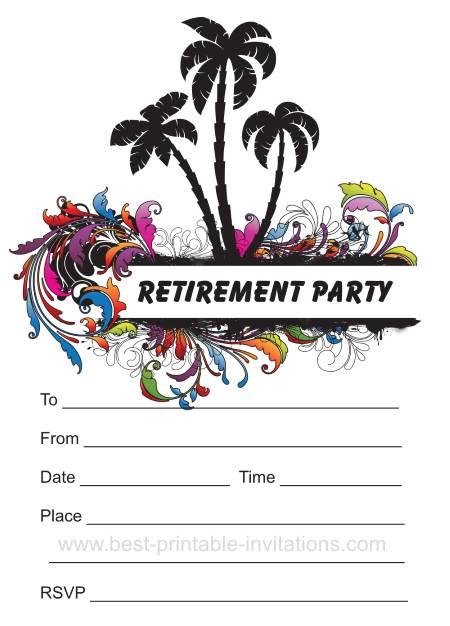 Printable Retirement Party Invitations - Free