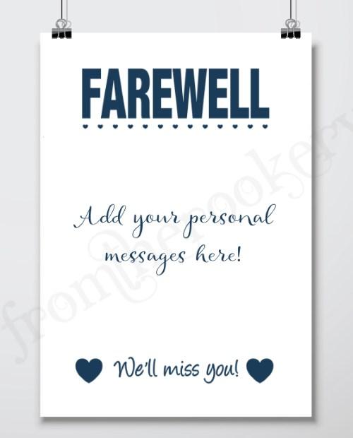 Farewell Gifts - Printable