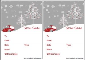 picture relating to Secret Santa Printable titled Free of charge Printable Solution Santa Invites