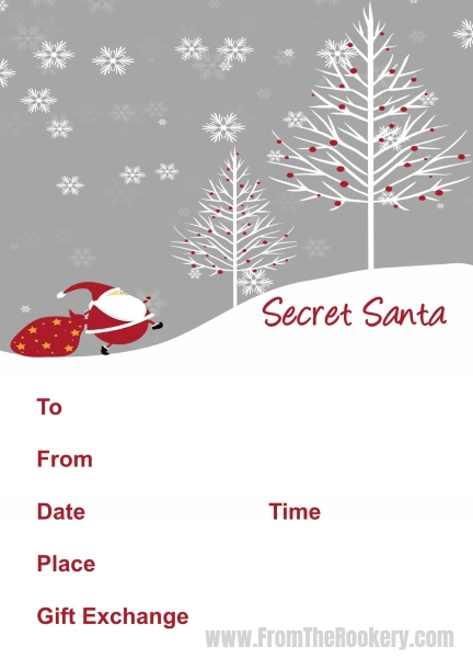 Father Christmas Party Invitations