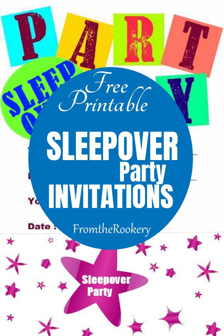 Sleepover party invitations